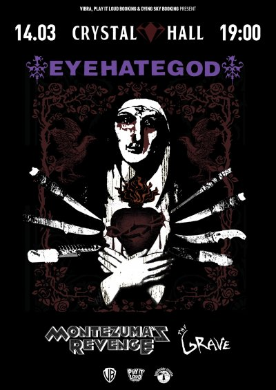 14.03.2020 - Crystal Hall - Eyehategod, Montezuma's Revenge, Thy Grave