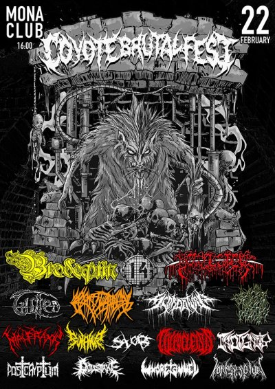 22.02.2020 - Mona Club - Coyote Brutal Fest 14: Brodequin, Bowel Stew, The Rigor Mortis, Swamp, Indignity