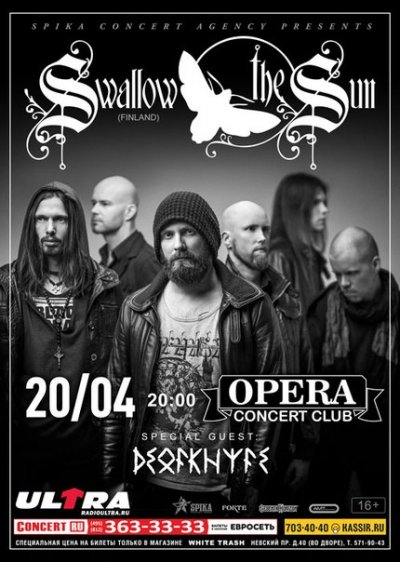 20.04.2016 - Санкт-Петербург - Opera Concert Club - Swallow The Sun, Deadknife