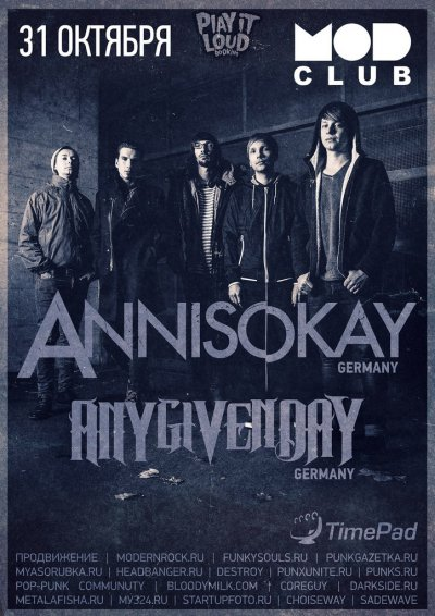 31.10.2015 - MOD - Annisokay, Any Given Day